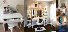 10 Cool DIY Makeup Vanity Table Ideas a