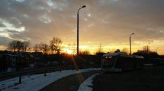 Kraków - Kurdwanów - zachód słońca