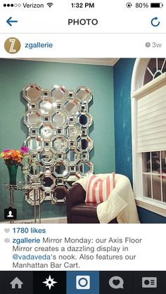 Jamie shows off her Z Gallerie\'s Axis Floor Mirror, \