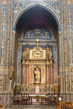 Cathédrale Sainte-Cécile d'Albi (Tarn).  Vues intérieures.