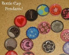 Very cute bottle cap pendants. And easy to do.