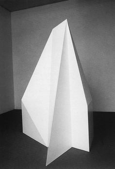 sol lewitt 'complex form' via dimitris-polychroniadis Modern Sculpture, Abstract Sculpture, Sculpture Art, Mono Ha, Modern Art, Contemporary Art, Origami, Design Art, Form Design