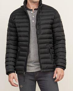 Mens A&F All-Season Lightweight Down Jacket | Mens Outerwear & Jackets | Abercrombie.co.uk