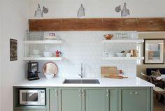 Green Kitchen Cabinets | POPSUGAR Home Photo 1