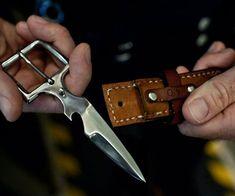 Belt Buckle Knife | DudeIWantThat.com #SurvivalistFashion