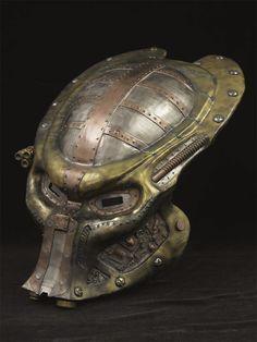 Fantastic Steampunk Predator Costume Helmet