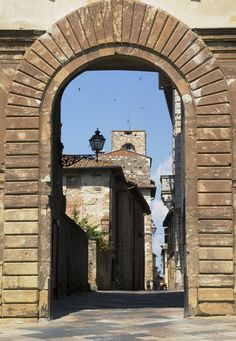 Doorway to Colle di Val d'Elsa, Italy Siena Tuscany Italy