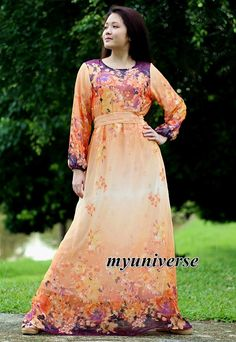 Hey, I found this really awesome Etsy listing at https://www.etsy.com/listing/237371426/floral-dress-long-sleeves-dress-maxi