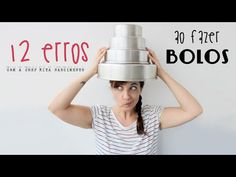 Os 12 erros mais comuns ao fazer bolos - YouTube Bolo Youtube, Cooking Videos, Cocktail Shaker, Baking Tips, Sweet Recipes, Barware, Recipies, Deserts, Sweetest Thing