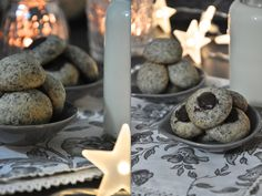 Crumble creations: Poppy seed marzipan cookies with or without chocolate filling … - Christmas Ideas Christmas Time, Xmas, Holiday, Christmas Ideas, Chocolate Filling, Chocolate Cookies, Cake & Co, Christmas Cookies, Poppies