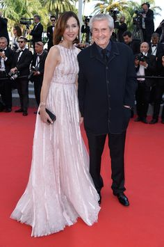 Cannes 2015 - Elsa Zylberstein in Zuhair Murad and Claude Lelouch - Day 4 (montée des marches Mia Madre)