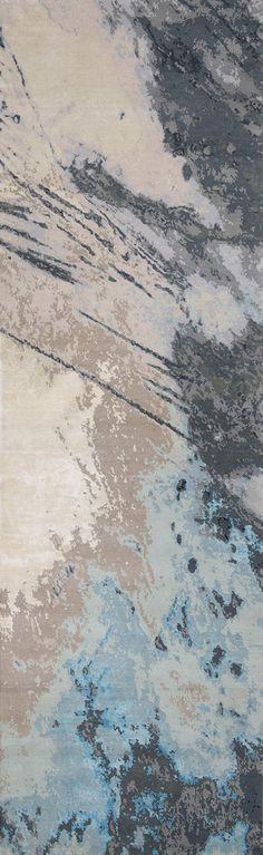 'Trilogy No.01_Cobalt'   80% Tibetan wool 20% Chinese silk   150 knot/inch