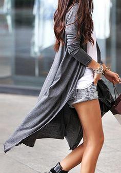 Collar Maxi Cardigan - Grey  $19.00, LOVE extra long cardigan's they're so hot!