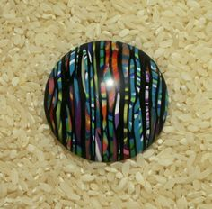 Large Dome Pendant - polymer clay Stroppel cane by Sweet2Spicy, via Flickr