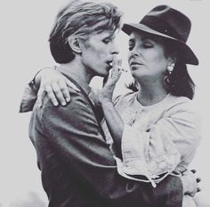 David Bowie and Liz Taylor.
