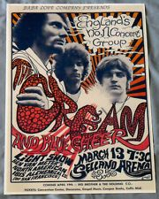 Cream(Clapton)/Blue Cheer Concert Poster - Fresno 1968