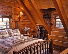 760 square-feet of cuteness in this Montana log home owned by Jack Hanna