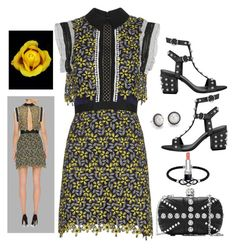 """""""Bumble me Spring"""" by dyanjoy ❤ liked on Polyvore featuring Jewel Exclusive, Christian Dior, self-portrait, Alexander McQueen and Blue Nile"""