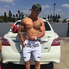 Men Summer Slim Shorts Gym Fitness Bodybuilding Running Male Short Pan – menstights Stringer Tank Top, Bodybuilding, Mens Fitness, Gym Fitness, Men's Briefs, Mens Joggers, Gym Wear, Muscle Men, Gym Workouts