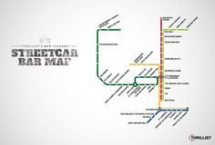 New Orleans' first-ever Streetcar Bar Map