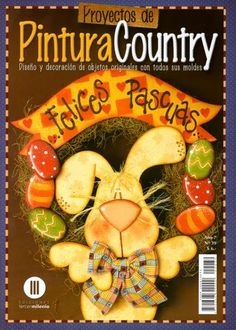Ideas For Easter Wood Crafts Country Primitives Painting Patterns, Craft Patterns, Fabric Painting, Pattern Ideas, Tole Painting, Free Pattern, Frame Crafts, Diy Frame, Book Crafts