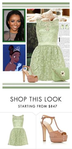 """Tiana Dress Style"" by preppyandgirlie2001 ❤ liked on Polyvore featuring Lipsy, Sergio Rossi, Tiffany & Co. and Swesky"