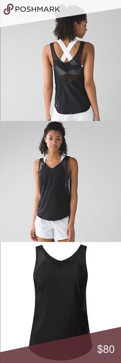 BRAND NEW LULULEMON TANK This four-way stretch tank was designed with Mesh fabric ventilation to keep you cool, and wide straps to layer over your favourite bra. lululemon athletica Tops Tank Tops