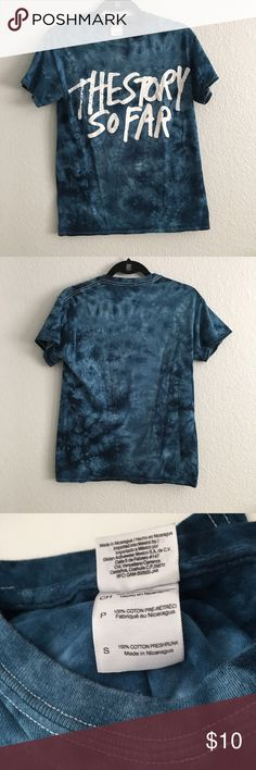 The Story So Far Band Tee The story so far and Tee, blue tie-dye, adult small.             🌈Open To Offers🌈 🚫Sorry, No Trades🚫 💰BUNDLE FOR DISCOUNTS💰 ⚡️Fast Shipping: same day or next morning depending on what time items are purchased⚡️ 💜please leave me a comment if you have any questions or would like me to stop by and check out your closet, thank you!💜 Tops Tees - Short Sleeve