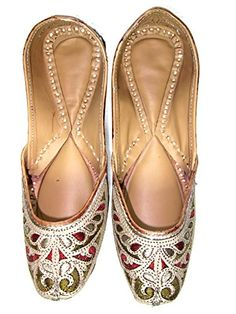 Indian Green Maroon Hand Embroidered Flat Womens Ethnic Footwear, Gift Idea Mogulinterior http://www.amazon.com/dp/B00QEUMKA8/ref=cm_sw_r_pi_dp_a9cFub12FN0S3