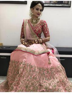 Pretty bride in pink lehanga