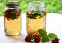Strawberry-Basil Iced Green Tea