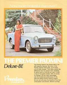 Fiat 1100 aka The Premier Padmini - indian car made under license from fiat. Vintage Advertising Posters, Old Advertisements, Car Advertising, Vintage Posters, Vintage India, Vintage Ads, Vintage Stuff, National Doctors Day, Vintage Bollywood
