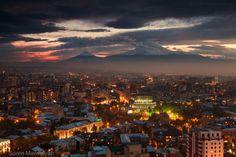 Breathtaking view of YEREVAN, ARMENIA