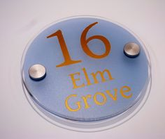 House signs acrylic  #happymonday the 16th live at Number 16? this customer does http://www.de-signage.com