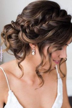 Best Wedding Hairstyles For Long Hair 2018 ★ See more: www. Best Wedding Hairstyles For Long Hair 2018 ★ See more: www.weddingforwar… Best Wedding Hairstyles For Long Hair 2018 ★ See more: www. Quince Hairstyles, Wedding Hairstyles For Long Hair, Wedding Hair And Makeup, Hair For Prom, Wedding Updo With Braid, Bridesmaid Updo Hairstyles, Wedding Hairstyles Half Up Half Down, Braided Bridal Hairstyles, Hair For Bridesmaids