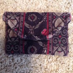 Vera Bradley Business Card Pouch Velcro closure, slight wear on corners, please view all pics, approx 4.5 in by 3.5 in closed Vera Bradley Accessories