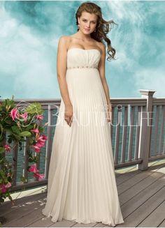 $158.99 Fashion Floor-length Chiffon #A-Line Draped #Wedding Dress