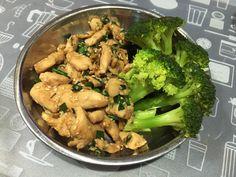 teriyaki chicken: garlic ginger chicken soysauce honey scallion sesame