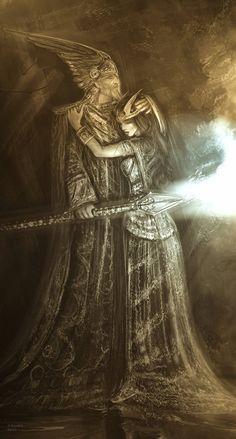 Wotan and Brunhild 1 by andrekosslick.deviantart.com on @deviantART