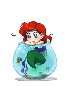 Baby Disney - Ariel by *Eley0n on deviantART I have an obsession with ariel shes my favorite princess