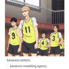 "I wanna see their summer collection, but look at kageyama though! ""how do you do this modelling?"" 