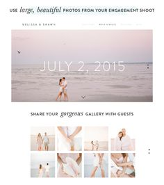Squarespace wedding website: http://www.stylemepretty.com/2015/02/04/tell-your-wedding-story-with-squarespace/