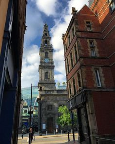#Trinity #Church #Leeds viewed from Trevelyan Square. #architecture #tower #clock #TrinityLeeds #building #city #urban #IgersLeeds #Yorkshire #England #travel #tourism #tourist #leisure #life #BoarLane #LS1 #religion