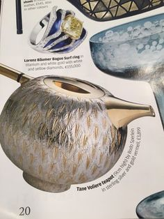 Bodo Sperlein Financial Times How to Spend It  http://www.bodosperlein.com/silver  #TeaPot #Tane #TaneSilver #BodoSperlein #Silver #Vermeil #TeaTime #FinancialTimes #HowToSpendIt #Gifts #Christmas #ChristmasPresent #Heirloom