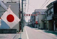 High street of rural Japanese town; things to come in a country with contracting population.