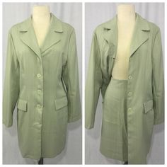 Available Just Ask!Pre-Loved Plus Size 18Skirt Pre-Loved David Benjamin Two-Piece Dress Suit  Product Features  5-Button Down Coat Separates  2-Pocket Coat  Fitting & Sizing Plus Size 18  Top - Bust 46-in Waist 41-in Hips 48-in Sweep 50-in Length 36-in  Skirt - Waist 33-in Hips 44-in Sweep 43-in Length 22.5-in  Fabric & Care U.S.A Polyester / Rayon Machine Wash / Tumble Dry David Benjamin Skirts Skirt Sets