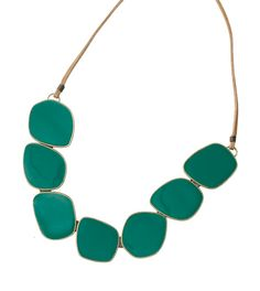 Statement necklace: Green is the color of the year and it's easy to add to your look with our Amazonia necklace.