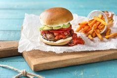 Portobello Burgers and Sweet Potato Fries
