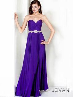 2014 New Style Jovani Prom Dresses Chiffon Beaded Waist Be [3738]