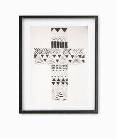 Aztec Cross Print by AstellaDesigns on Etsy, $18.50